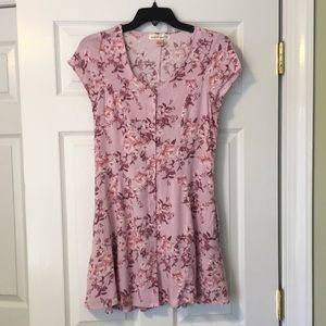 Band of Gypsies pink floral dress size S